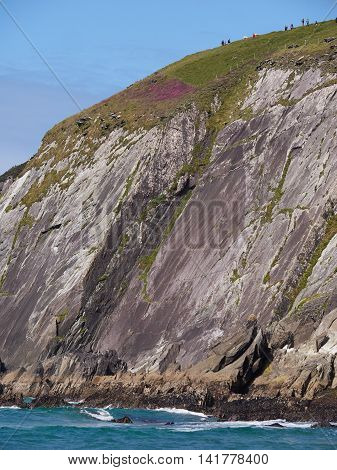 Rocky and rugged costline in Dingle, Ireland