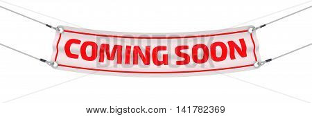 Coming soon. Advertising banner. Advertising banner with inscriptions
