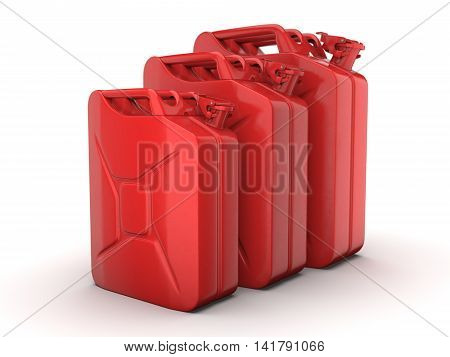 3D Rendering Jerrycans