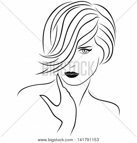 Attractive Young Lady With Stylish Short Hairstyle