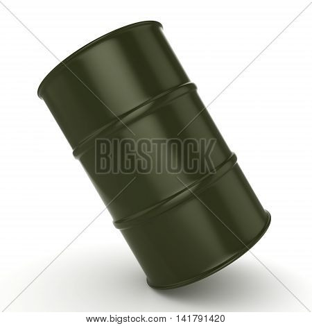 3D Rendering Khaki Barrel