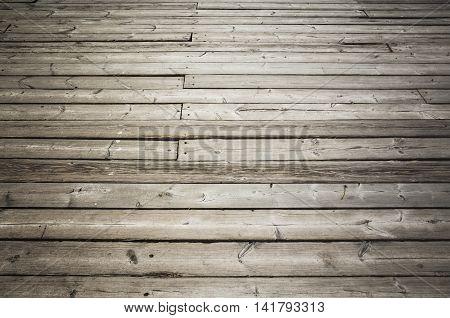 Uncolored Old Dark Gray Wooden Floor