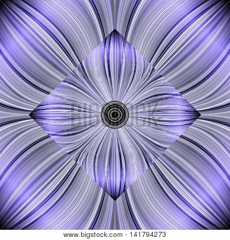 Beautiful abstract background of glowing lines, stylized flowers