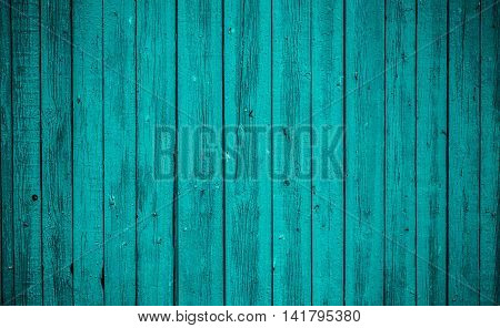 Old Blue Wooden Board. Beautiful Background.