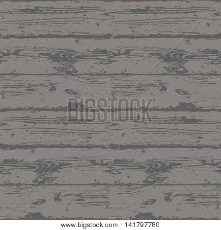 Decorative Wooden Seamless Pattern. Endless dark gray background with realistic wood texture. Grained and textured backdrop for decoration, wallpaper, wrapping, digital paper, scrapbooking