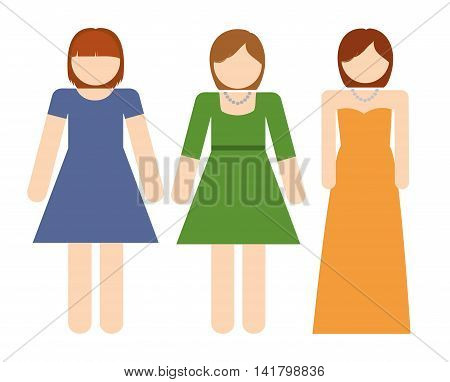 Avatar of young people design represented by girls icon. Colorfull and Isolated illustration.