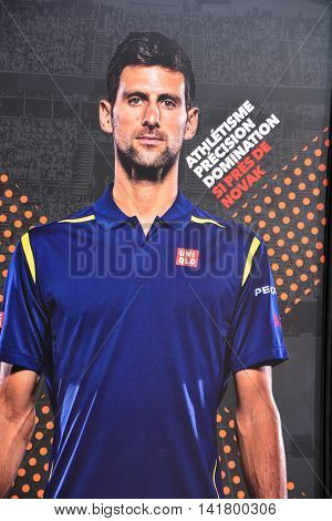 MONTREAL CANADA 07 27 2016: Rogers Cup sign of Novak Djokovic Rogers Cup presented by National Bank is a tennis tournament played on outdoor hard courts