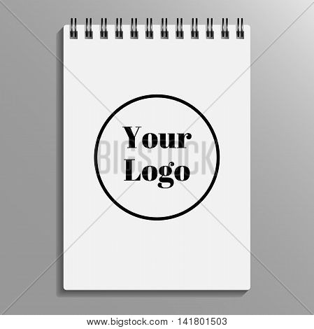 empty blank of spiral notebook. notebook template mockup. Vector illustration
