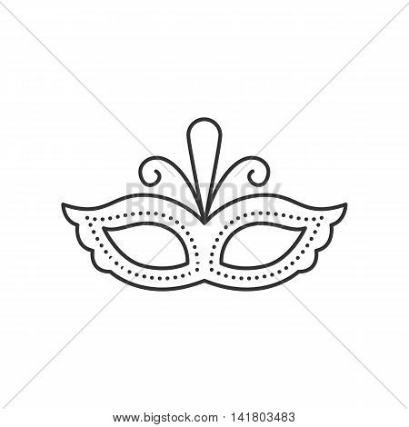 Carnival mask thin line icon. Party and Celebration icon.