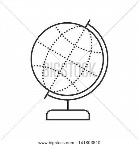 Globe Thin line icon. Globe symbol vector illustration