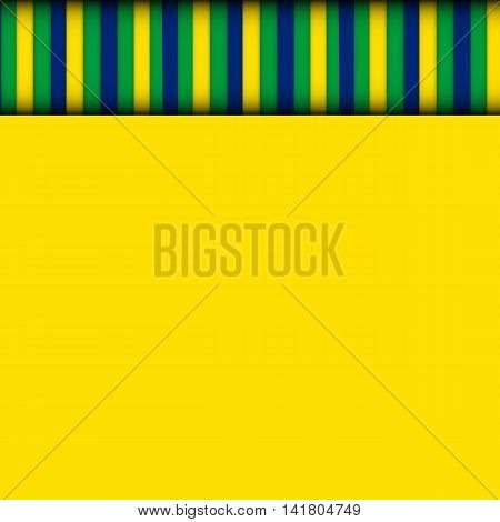 Abstract patterns of color flag of Brazil. Vector Illustration. EPS10 poster
