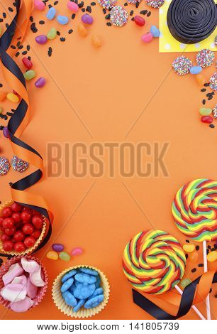 Happy Halloween Candy Background