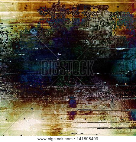 Art grunge texture, vintage abstract background for creative design. With different color patterns: yellow (beige); brown; green; blue; black; white