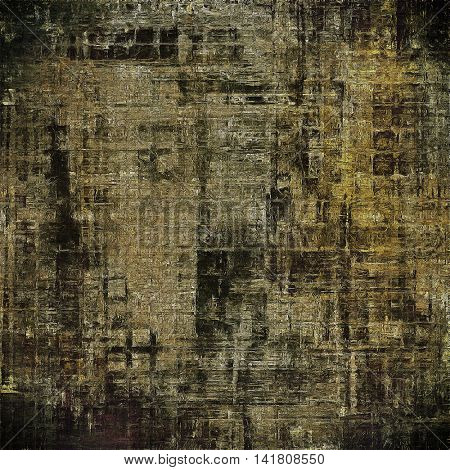 Traditional grunge background, scratched texture with vintage style design and different color patterns: yellow (beige); brown; gray; black