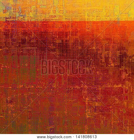 Old background with grunge decorative elements. Retro composition for your design. With different color patterns: yellow (beige); brown; green; red (orange); purple (violet); pink