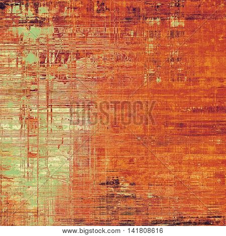 Old background with grunge decorative elements. Retro composition for your design. With different color patterns: yellow (beige); brown; green; red (orange); pink