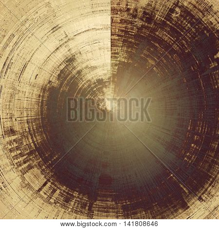 Spherical retro style background with grungy vintage texture and different color patterns: yellow (beige); brown; gray; purple (violet)