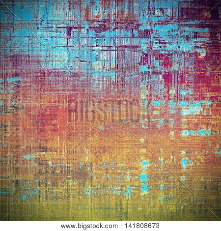 Traditional grunge background, scratched texture with vintage style design and different color patterns: yellow (beige); brown; blue; red (orange); purple (violet); pink