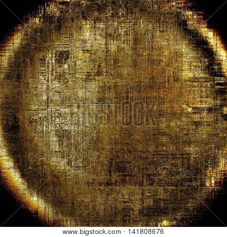 Spherical retro abstract background, vintage grunge texture with different color patterns: yellow (beige); brown; gray; black