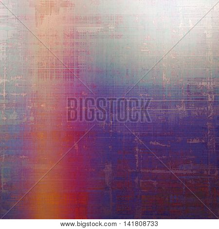 Abstract vintage background with faded grungy texture. Aged backdrop with different color patterns: gray; blue; red (orange); purple (violet); pink; cyan