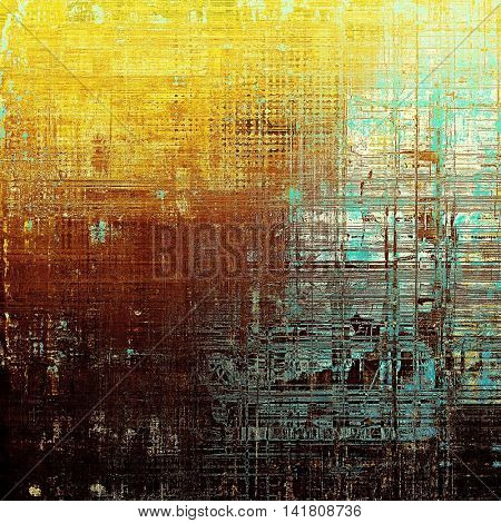 Art graphic texture for grunge abstract background. Aged colorful backdrop with different color patterns: yellow (beige); brown; blue; red (orange); cyan
