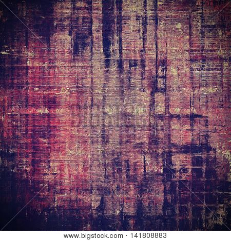 Abstract retro design composition. Stylish grunge background or texture with different color patterns: yellow (beige); blue; purple (violet); black; pink