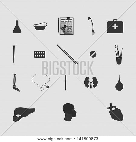 Medicine vector image set of new drawing