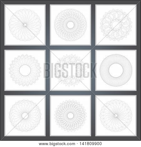 Abstract pattern, created by the rotation of geometric body. Vector illustration