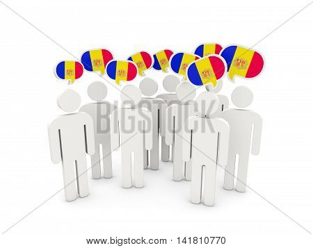 People With Flag Of Andorra