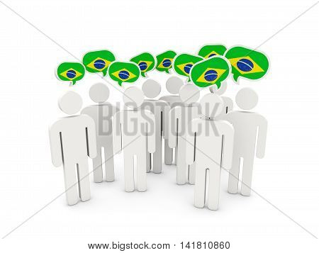 People With Flag Of Brazil