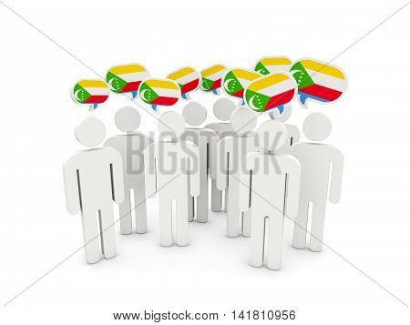 People With Flag Of Comoros