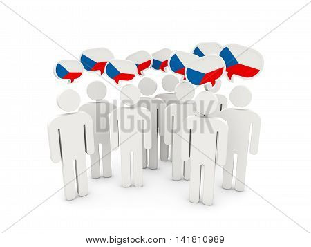 People With Flag Of Czech Republic