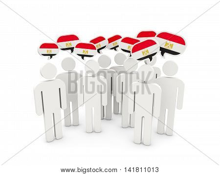 People With Flag Of Egypt