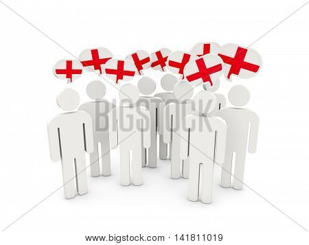 People With Flag Of England