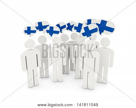 People With Flag Of Finland