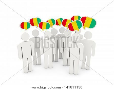 People With Flag Of Guinea