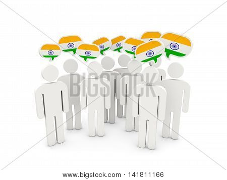 People With Flag Of India