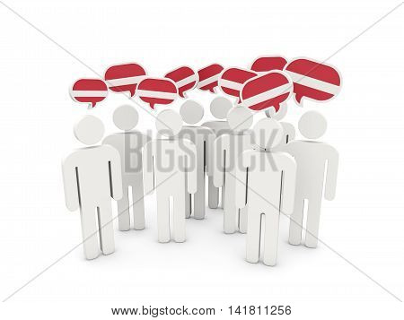 People With Flag Of Latvia