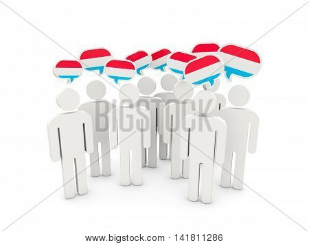People With Flag Of Luxembourg