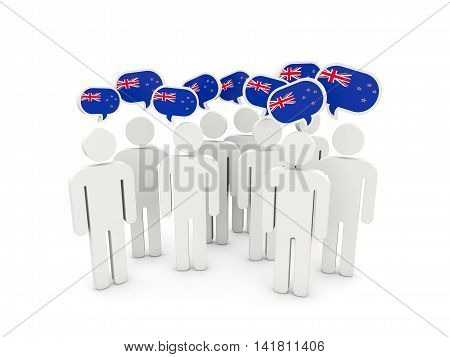 People With Flag Of New Zealand