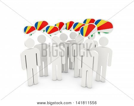 People With Flag Of Seychelles