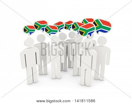 People With Flag Of South Africa