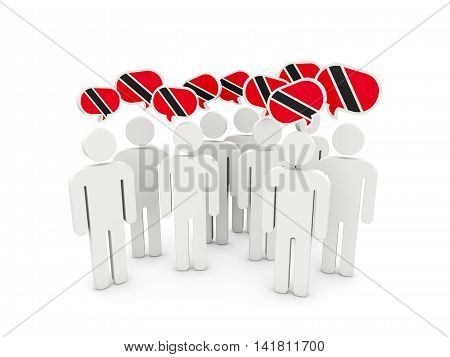 People With Flag Of Trinidad And Tobago