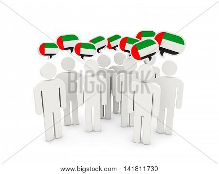 People With Flag Of United Arab Emirates