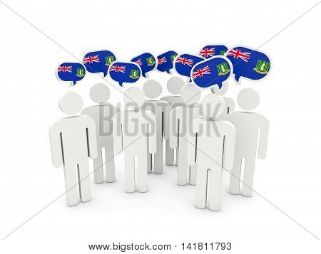 People With Flag Of Virgin Islands British
