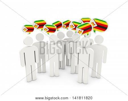 People With Flag Of Zimbabwe