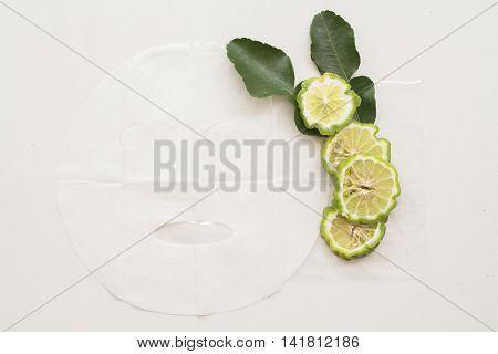 natural sheet mask for the face herbal is bergamot