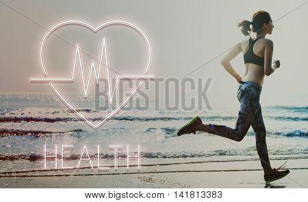 Health Heartbeat Icon Symbol Concept