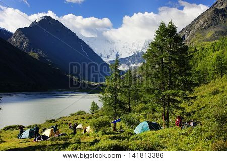 Akkem Lake Camp, Altai Mountains, Russian Federation