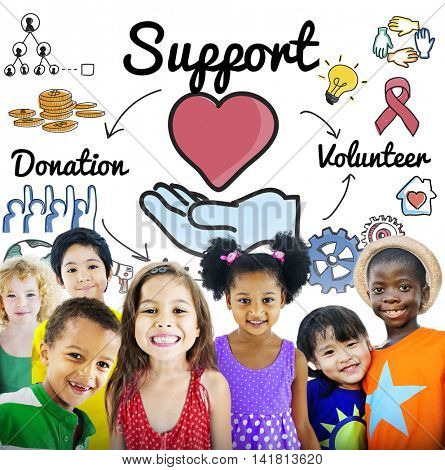 Support Charity Donation Volunteer Concept